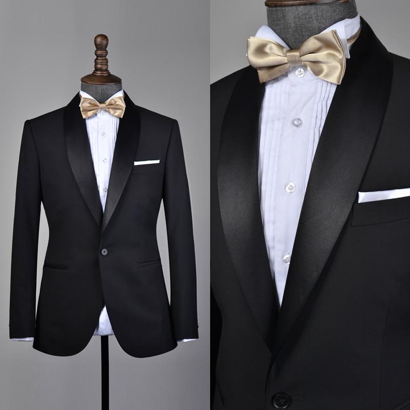 Black Men\'s Cocktail Dress Evening Dress Party Dress Groom Wedding ...