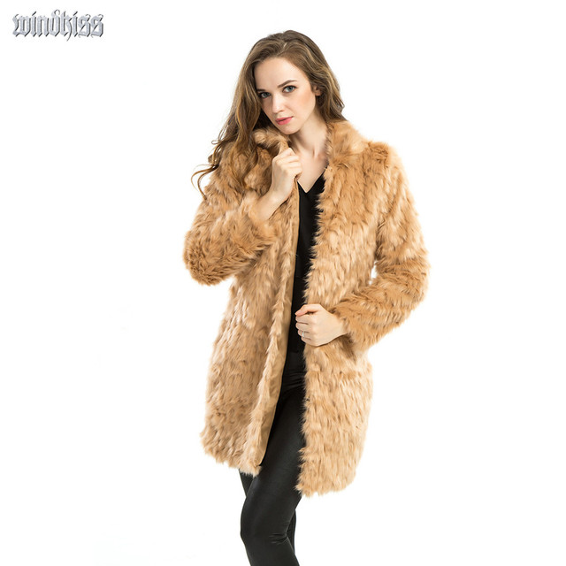 Aliexpress.com : Buy Women Faux Fur Coats Woolen coat 2015 New ...