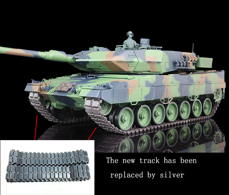 2 4Ghz HengLong 1 16 Scale Upgraded Metal Version German Leopard2A6 RC RTR Tank 3889
