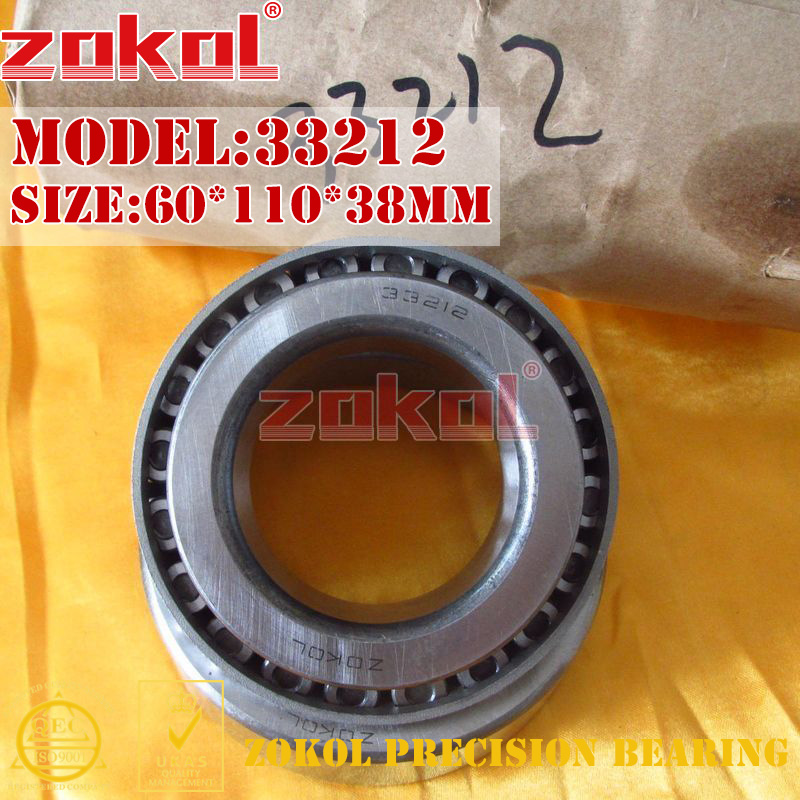 ZOKOL bearing 33212 3007212E Tapered Roller Bearing 60*110*38mm zokol bearing 31310 27310e tapered roller bearing 50 110 29 5mm