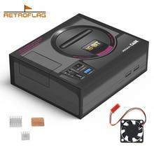 Retroflag MEGAPi Case SEGA MEGA MD Stijl Retropie Game Console voor Raspberry Pi 3 Model B + (plus) /3B, Case met Ventilator Heatsinks Kit