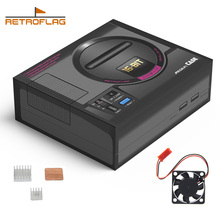 Retroflag MEGAPi Case SEGA MEGA MD Style Retropie konsola do gier Raspberry Pi 3 Model B + (plus)/3B, obudowa z zestawem radiatorów wentylatora