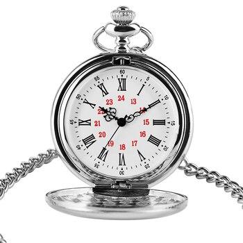 2020 Logo Custom Silver Smooth Quartz Pocket Watch Fob Chain Men Women Pendant Steampunk Roman Numerals Fashion Necklace - discount item  27% OFF Pocket & Fob Watches