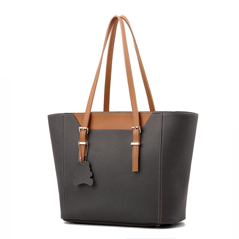 Free shipping 2017 new high quality pu woman handbag Large capacity business shoulder bag Size 33