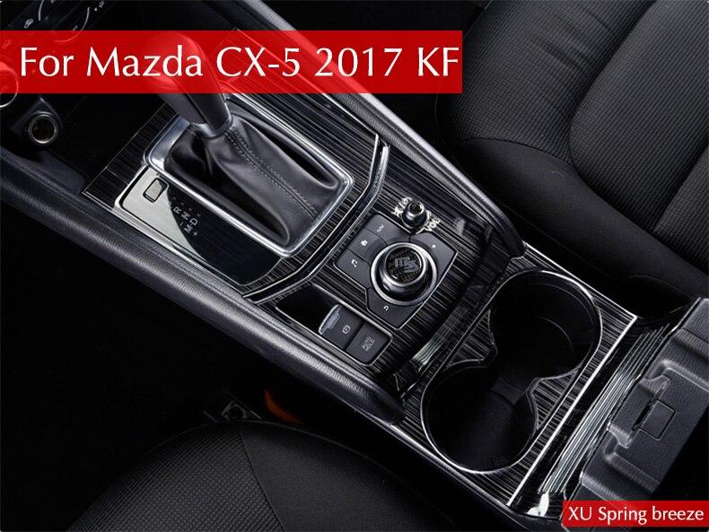 Pour Mazda CX-5 CX5 2017 2018 KF LHD Voiture de Changement de Vitesse Boîte Panneau De Couverture Autocollant Garniture Bandes Garnir Décoration Protection car Styling
