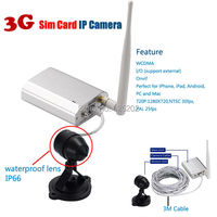 3G Sim Card Network Mini Waterproof 720P CCTV Camera Support 128GB SD Card With P2P&WPS