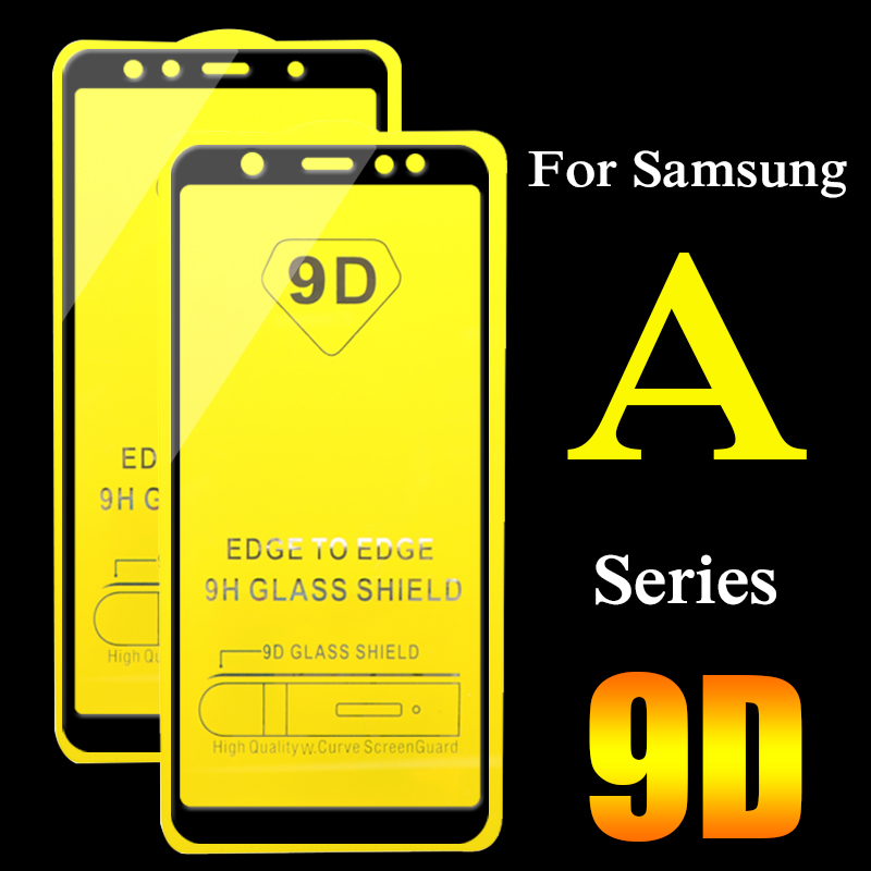 2pcs 9D Protective Glass For Samsung Galaxy A6 A7 A8 2018 Plus A3 A5 2017 ScreenProtector A 3 5 6 7 8 full cover Tempered Glass(China)