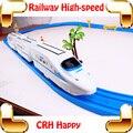 Regalo de Año nuevo Feliz Tren Ferroviario Eléctrico de Juguete de Coche de Bebé de Alta los vehículos de velocidad modelo motor mini tren para los niños divertido educación toys