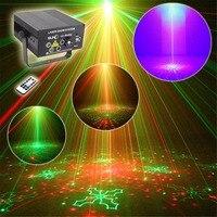 Hot Remote 5 Lens 80 Patterns RG Laser BLUE LED Stage Lighting DJ Bar Show Light