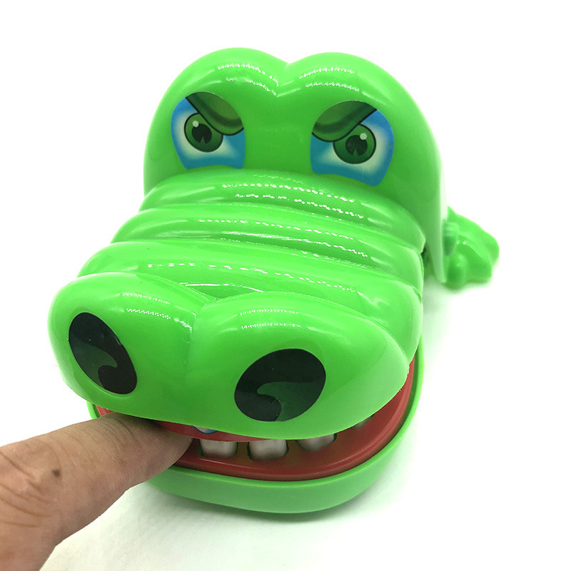 Stomatologist Big Mouth Dinosaur Big Grey Wolf Crocodile Bite Finger Plastic Game Funny Novelty Toy Children's Toys
