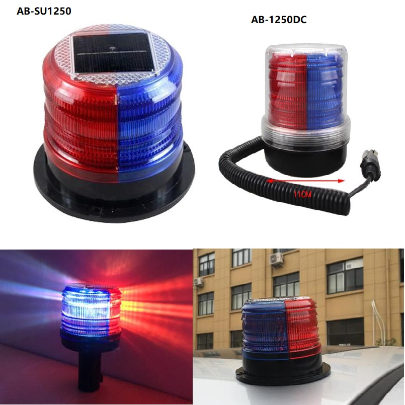 Rotating Red Blue Flashing Warning Light Explosive Flashing LED Vehicle Warning Lamp Construction Road Traffic Signal Lamp