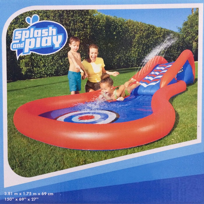 HTB1jOg0X.sIL1JjSZPiq6xKmpXaP - 3.8m Giant Kids Inflatable Surf 'N Slide Play Center Water Slide with Pump