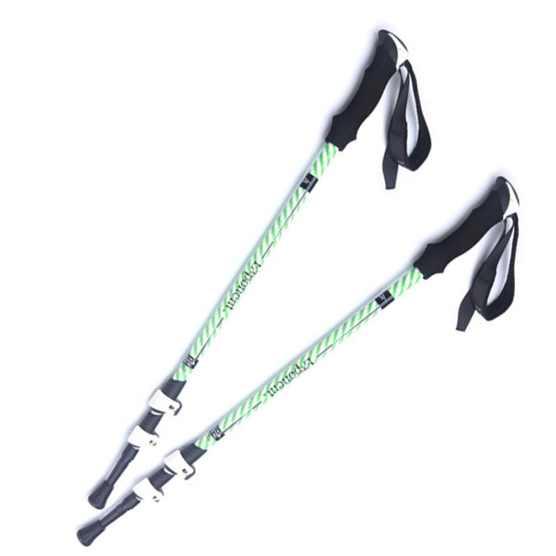 POINT BREAK ABD8017 Two pieces Outside Lock Carbon Super Light Trekking Pole 7075 Aluminum Alloy Telescopic Walking Stick break point