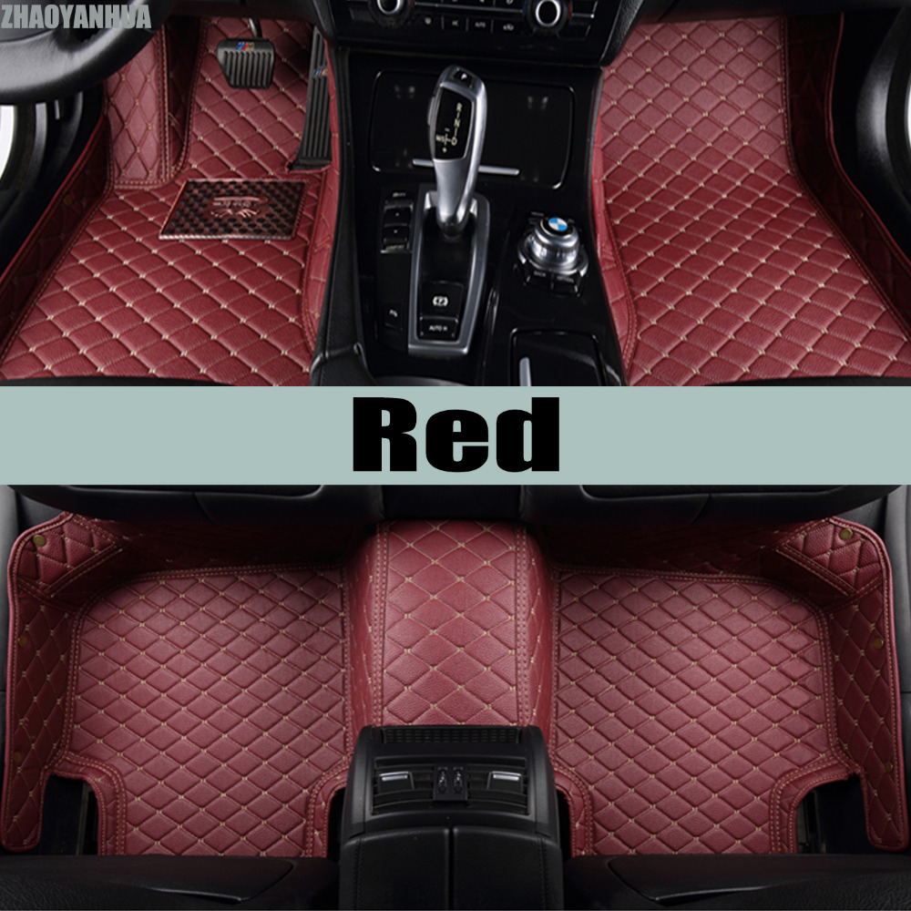 ZHAOYANHUA car floor mats for Mazda 6 Atenza Mazda 3 heavy duty full cover perfect case car-styling carpet rugs liners (2004-) custom made car floor mats for mazda 3 axela 6 atenza 2 cx 5 3d car styling high quality all weather full cover carpet rug liner
