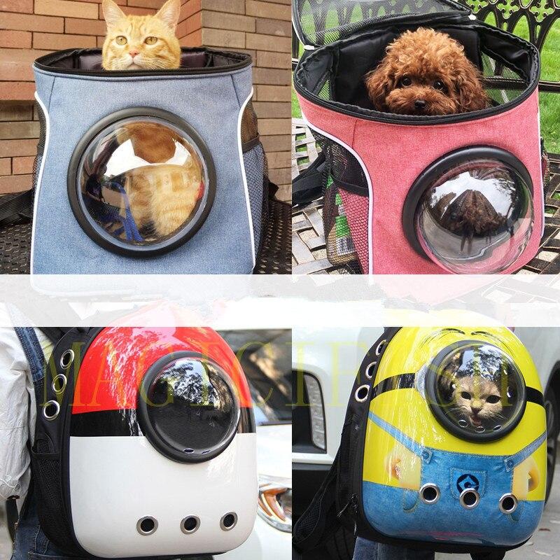 Pokemon chat chien espace Capsule Pet chat chien sac à dos fenêtre pour Kitty chiot petit chat chien transporteur transport extérieur sac de voyage