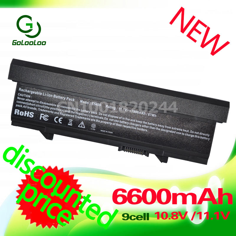Golooloo battery for Dell Latitude E5400 E5410 E5500 E5510 KM668 KM742 KM752 KM760 KM769 KM771 KM970 MT186 MT187 MT193 MT196 us new replace laptop keyboard for dell for latitude e5300 e5400 e5500 e5510 e5410