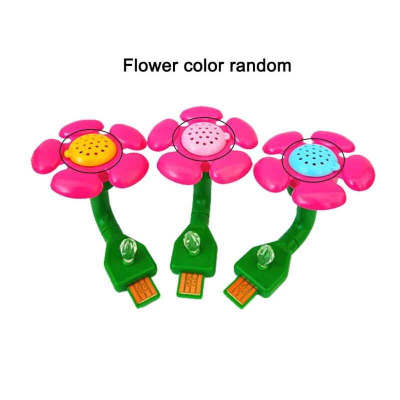 New mini home car air purifier essential oil diffuser flower heart color random New