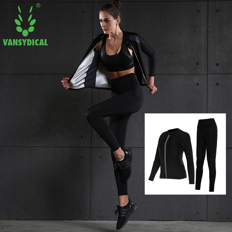 Tracksuit Yoga Set Hot Sweat Body Shaper Weight Lose Fat Burne Stretch Slim Gym Woman Sportswear