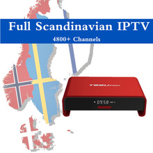 Scandinave IPTV Norvégien Suédois Denmart Européenne Israéliennes IPTV Européenne T95U PRO Android 6.0 TV Box 2 GB 16GBMali-T820MP3
