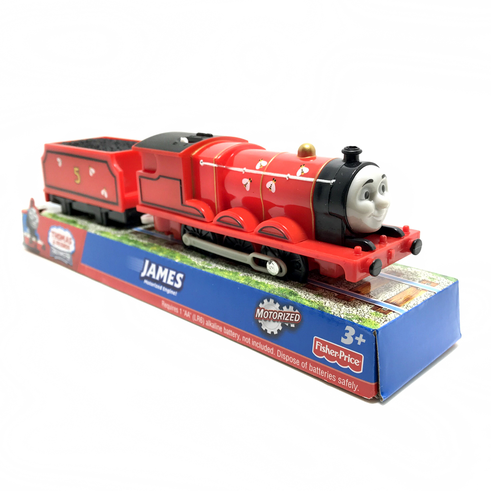 t212 Electric Thomas and friend bee James with one carriage Trackmaster engine Motorized train Chinldren kids toys with package