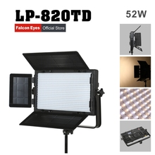 Falconeyes 52W Color Temperature Adjustable LED Light DMX system Professional photo lighting free shipping LP-820TD