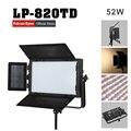 Falconeyes 52 W Color temperatura ajustable de luz LED DMX sistema profesional LED iluminación foto envío gratis LP-820TD