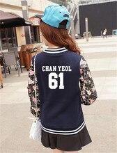 NEW EXO kpop sehun women Baseball Jacket long sleeved Hoodies k-pop EXO M K Autumn winter students baseball uniform Sweatshirts