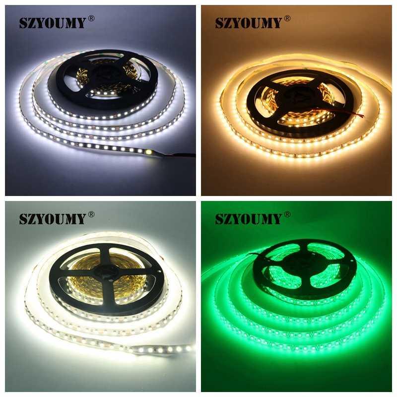 SZYOUMY 12 В 2835 100 м Светодиодная лента 5 мм Тонкий 8 мм IP65 IP20 не водонепроницаемый 120 светодиодный s/M 5 м/рулон Светодиодная лента белый/теплый белый/синий/красный/зеленый