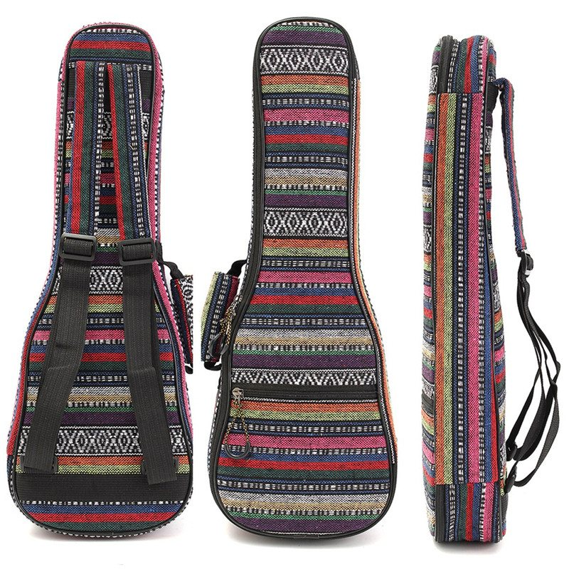 Zebra 21 23 26 Inch Padded Cotton Folk Portable Bass Guitar Gig Bag Ukulele Case Box Cover Backpack With Double Strap In Parts Accessories
