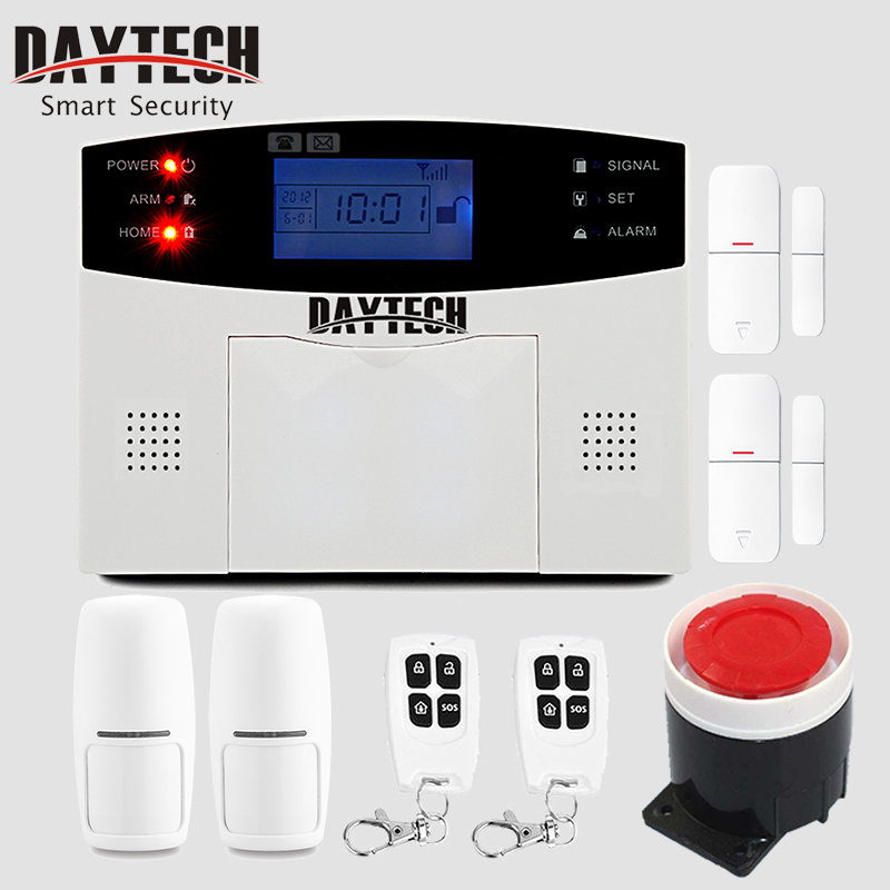 DAYTECH GSM Burglar-Anti Alarm System Kits Intruder SMS Alarm Alert Home Security System APP Control PIR Motion Sensor The Alarm yobang security 30a home security wireless alarm system gsm home burglar alarm kits new version pir infrared gsm sms alarm