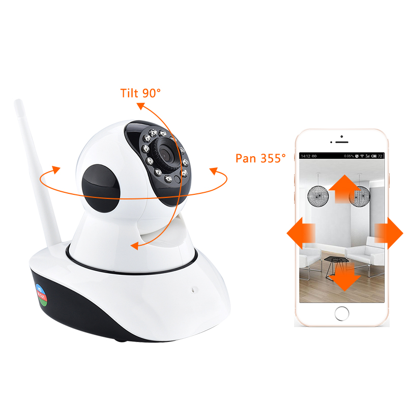 Free shipping Home Security IP Camera Wireless Smart WiFi Camera WIFI Audio Record Surveillance Baby Monitor HD Mini CCTV Camera