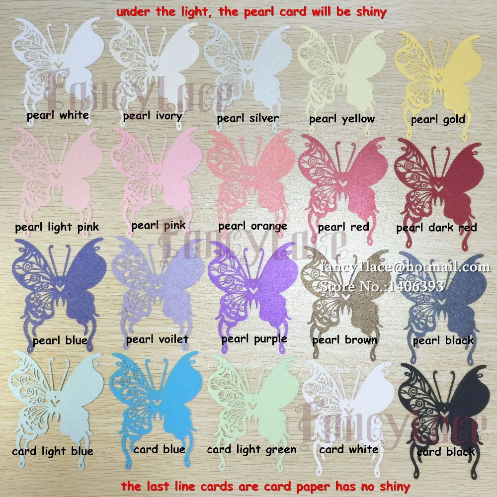 50PSC Wholesale Lovers Shaped Wedding Invitation Decorations Place ...