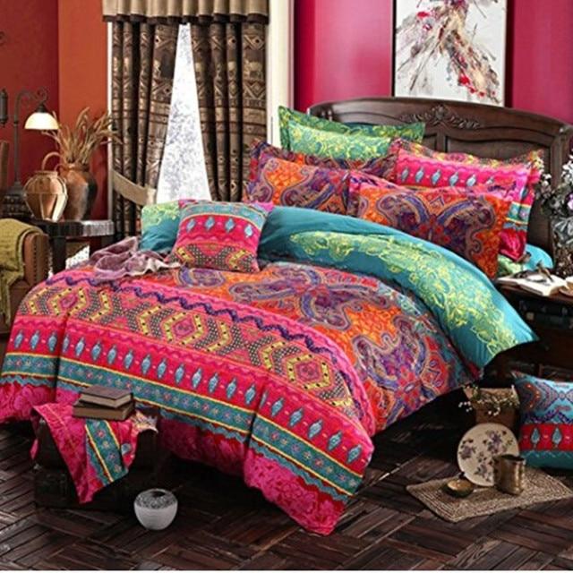 Bohemian 3d comforter set di biancheria da letto Mandala copripiumino set invern