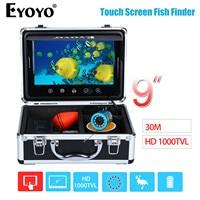 EYOYO 9 30M Touch Screen Infrared HD 1000TVL Underwater Fishing Camera Fish Finder Video Fishfinder Ocean
