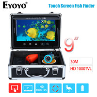 EYOYO 9 30M Touch Screen Infrared HD 1000TVL Underwater Fishing Camera Fish Finder Video Fishfinder Ocean