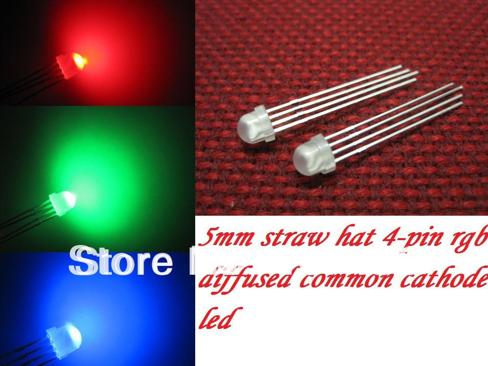 Electronic Components & Supplies Hot Sale 100pcs 5mm Rgb Super Bright Led Common Anode 4 Pins Red Green Blue Water Clear Neither Too Hard Nor Too Soft Active Components