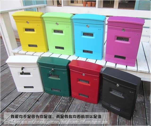 Garden Decor / Villa Mailbox / Wall Mounted Storage Box Aluminum Newspaper  Mailboxes Post Box