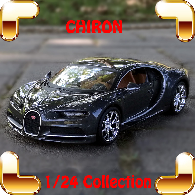 Christmas Gift Chiron 1/24 Metal Model Roadster Car Vehicle Decoration Alloy Car Showcase Collection Metallic Toys Cars Present bburago bugatti chiron 1 18 scale alloy model metal diecast car toys high quality collection kids toys gift