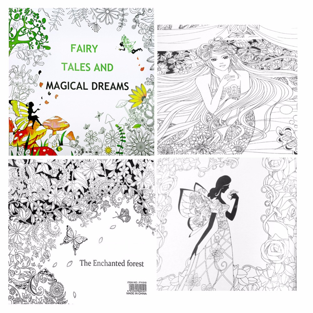 fairy tales and magical dreams children adult graffiti coloring book 2525cm in books from office school supplies on aliexpresscom alibaba group - Graffiti Coloring Book
