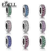 EDELL 100% 925 Sterling Silber Inspiration Spacer Korne Passten Original Armband Anhänger Authentische Schmuck Geschenk Frauen