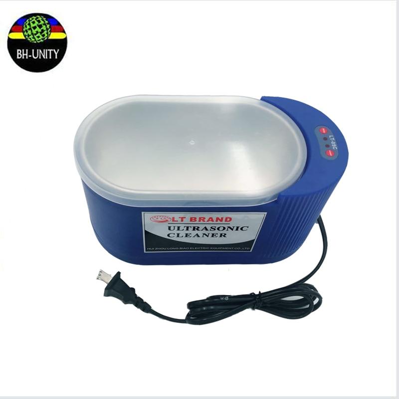 Hot selling! 35W/60W adjustable 220V ultrasonic printhead cleaning machine for SPT510 Xaar 128 382 Konica 512 head clean bath spt 510 35pl original printhead for infiniti challenger machine