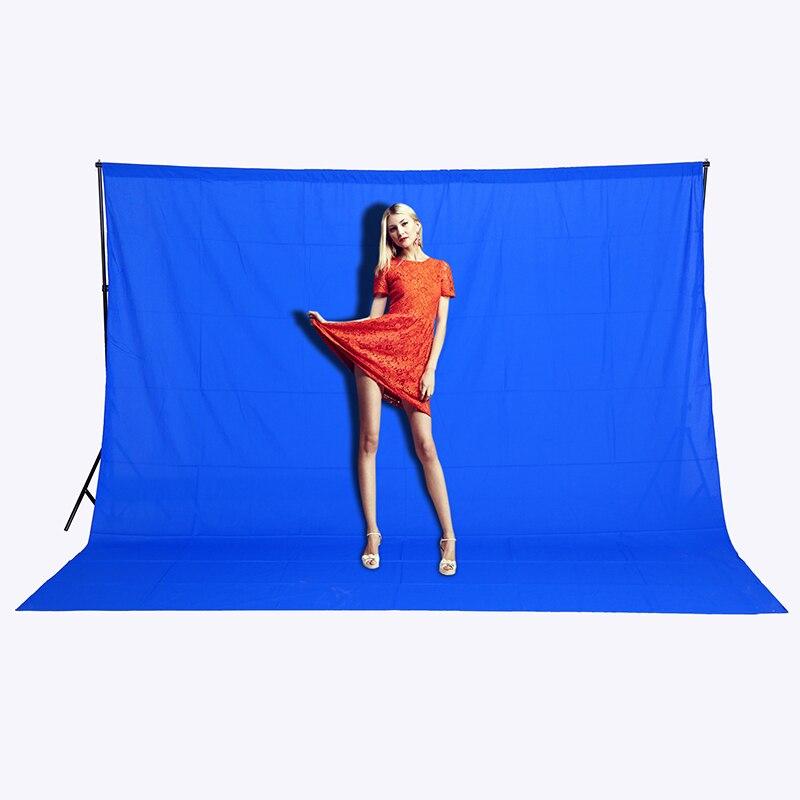 Livraison gratuite 3 m x 2 m bleu Photo éclairage Studio fond 100% coton Chromakey écran mousseline toile de fond feuille effet image CD15