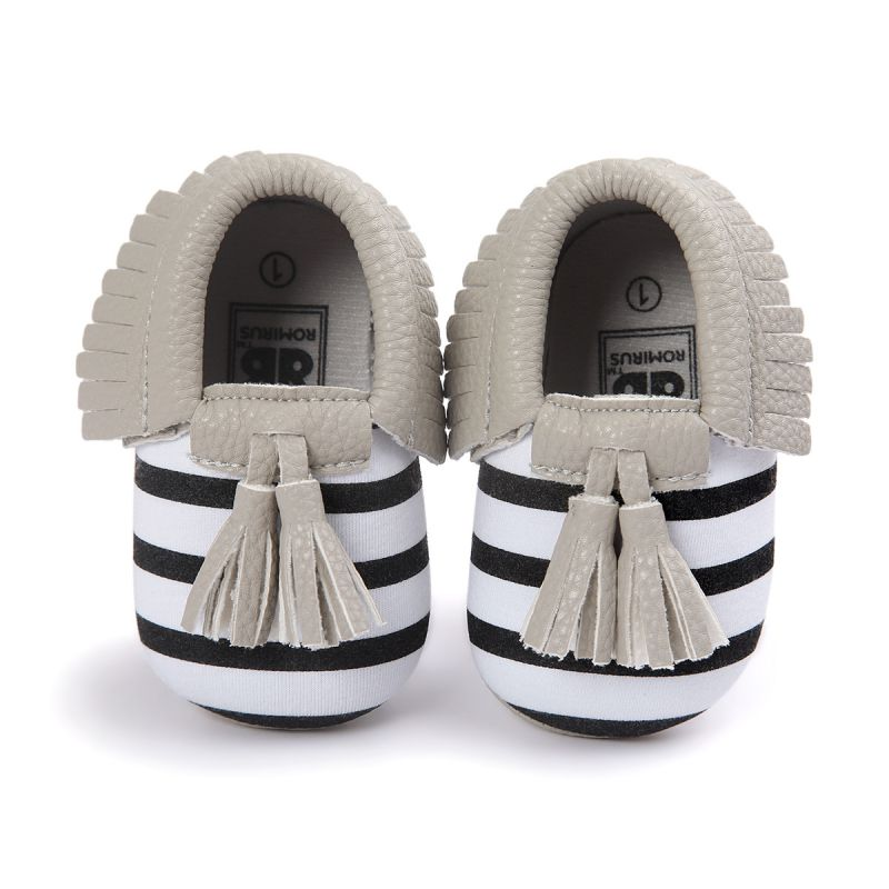 Baby Moccasins Shoes Kids Soft PU Leather Tassel Girls Bow Moccs Moccasin Bow First Walkers