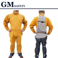 Cow Leather Safety Welding Coverall Adjustable size Long Sleeve Long Pants Protective Soldering Clothes for Men&Welders GM1012