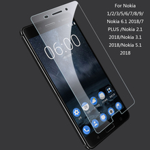 hot deal buy tempered glass for for nokia 1 2 3 5 6 7 8 9 9h protective glass for nokia 6.1 2018 7 plus  nokia 5.1 2018 2.5d