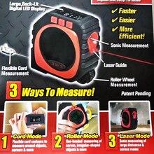 New 3-in-1 Digital Tape Measuring String Mode Sonic Mode Roller Mode Portable Survey Save Effort Tools Stock in US,RU,ES