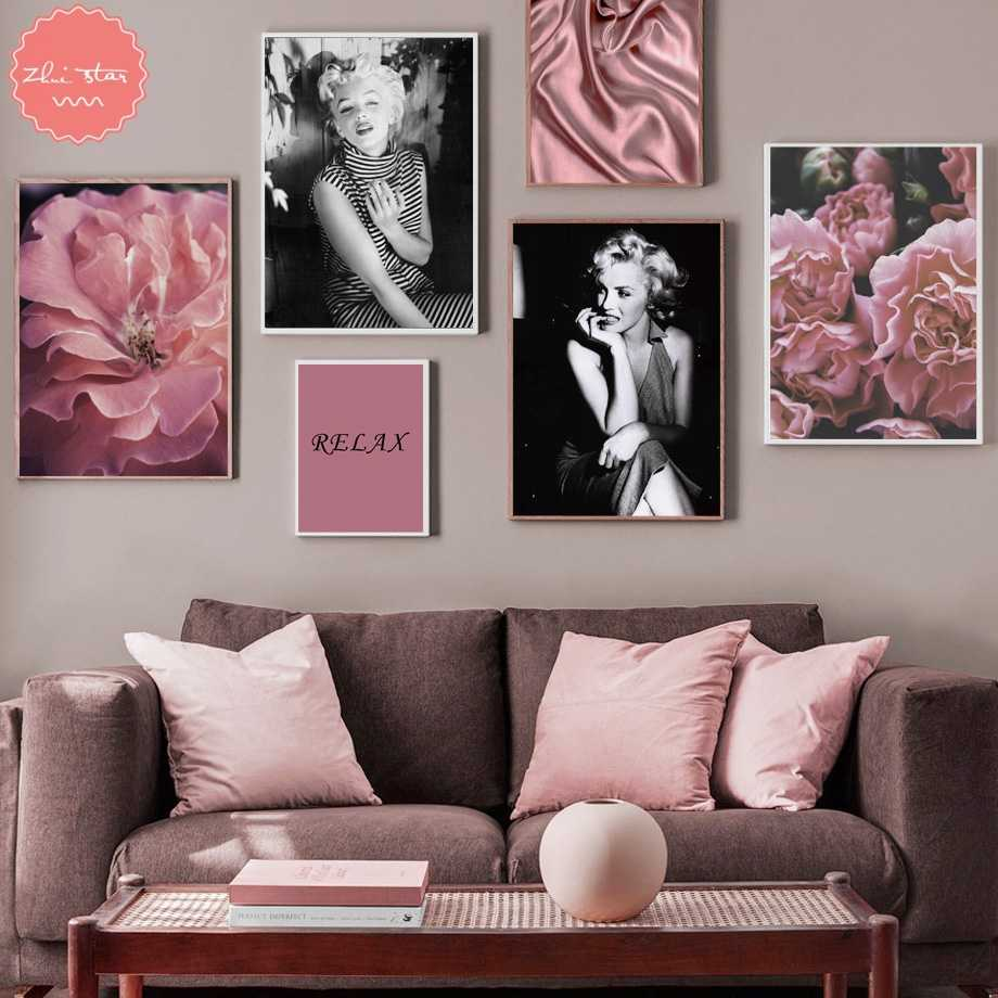 Diamond Painting cross-stitch Marilyn Monroe Peony Flower Relax Quote diamond embroidery diamond mosaic decoration home