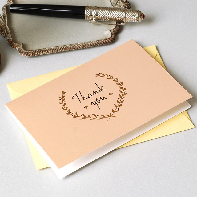 12set gold inlay thank you card leave message cards lucky love 12set gold inlay thank you card leave message cards lucky love valentine christmas party invitation letter stopboris Images