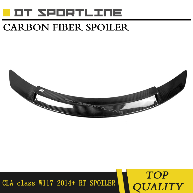 Car Rear Truck Spoiler Real Carbon Fiber/abs material Suitable for Mercedes CLA Class w117 CLA200 2014  2015 RearTruck tail Wing|Spoilers & Wings| |  - title=