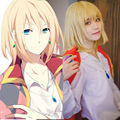 Howl's Moving Castle Howl Cosplay Costume Short Blonde Wig